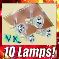 10 Halogen Lamps collection.